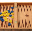 Backgammon with chips and dice - ストック写真