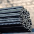Stock Photo: Steel bars texture