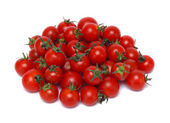 Small cherry tomato on white background close up — Stock Photo
