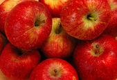 Background with fresh red apples — Stock Photo