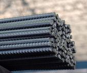 Steel bars texture — Stock Photo