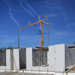 Apartment complex construction scene - Stock Photo