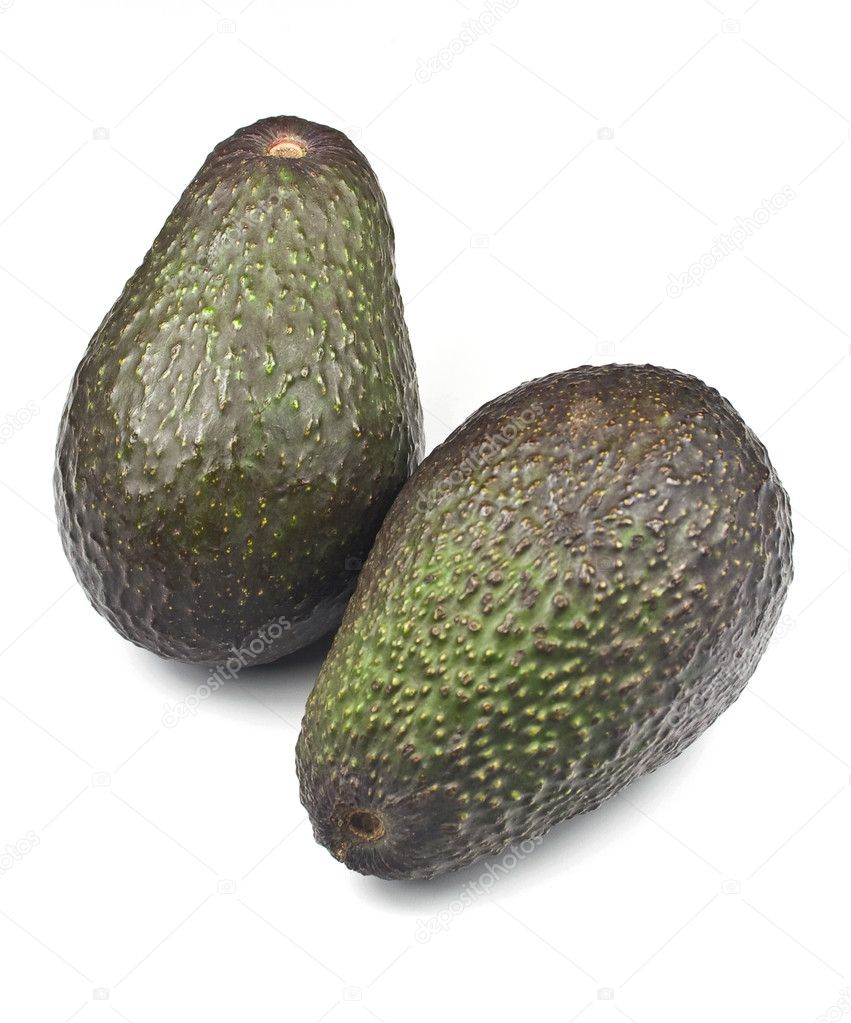 Ripe organic Hass Avocado isolated on white background  Stock Photo #3807408