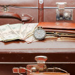Money lays on old suitcase — Stock Photo #2788189