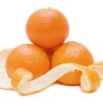 Fresh tangerines isolated on white — Stock Photo