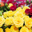 Stock Photo: Bouquet of red and yellow roses