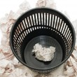 Basket for garbage isolated on the white - Stock Photo