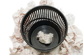 Basket for garbage isolated on the white — Stok fotoğraf