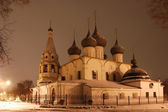 Church in Yaroslavl at night — Stock Photo