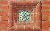 Fragment ozdobou průčelí kaple — Stock fotografie