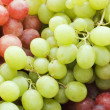 Red and green fresh grapes — Stock Photo