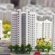 Stock Photo: City miniature. At home and street