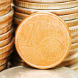 Coins macro close up background — Stock Photo