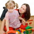 Mum with the daughter play to a room — Stock Photo #2911718