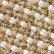 Close up view of sackcloth material — Stock Photo