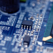Closeup texture of integrated circuit — Stock Photo