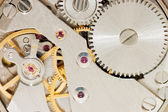 Mechanismus staré hodiny. makro — Stock fotografie