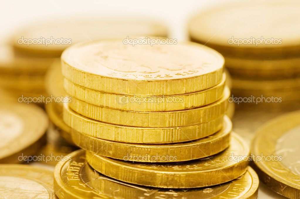 Coins macro close up background  Stock Photo #2955287