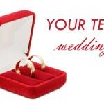 anillo de boda sobre fondo blanco — Foto de Stock