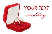 Wedding ring on white background — Stock Photo