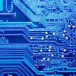 Close up of computer circuit board — 图库照片