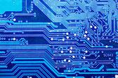 Gros plan de la carte de circuit informatique — Photo