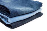 Set of jeans isolated on white — Stock Photo