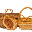 Wattled basket isolated on white - Foto de Stock