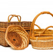 Stock Photo: Wattled basket isolated on white