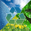 Royalty-Free Stock Photo: Recycling sign with images of nature