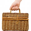 Stock Photo: Wicker basket isolated on white background