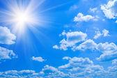 Beauty blue sky clouds — Stock Photo