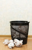 Basket for garbage In a room — Stock Photo