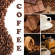 Collage from fragrant coffee — Stock Photo