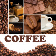 Stock Photo: Collage from fragrant coffee