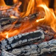 Stock Photo: Very hot campfire close up