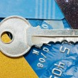 credit card and keys - security concept — Stock Photo