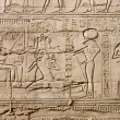 Egyptian hieroglyphs. Pattern from Karnak Temple, location: Luxor, Egypt — Foto de Stock