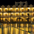 图库照片: Resort hotel at night