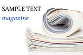 Magazine isolated on white background — Stock Photo