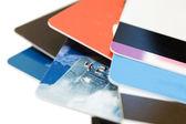 Macro shoot of a credit card — Stock Photo