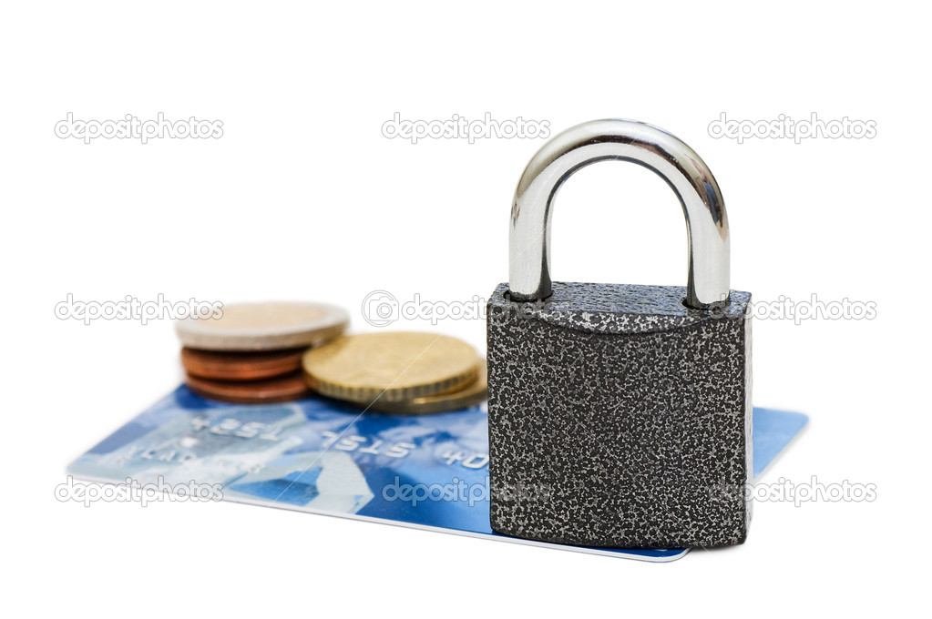Credit card and lock - security concept — Stock Photo #3865522