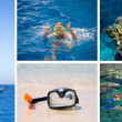 Royalty-Free Stock Photo: Diving. A collage