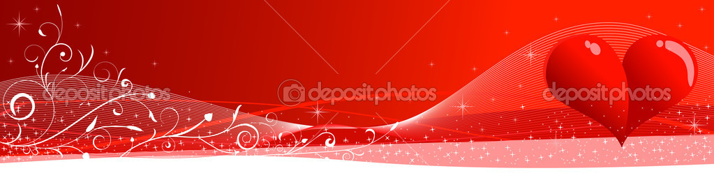 A Valentine header  Imagen vectorial #2829526