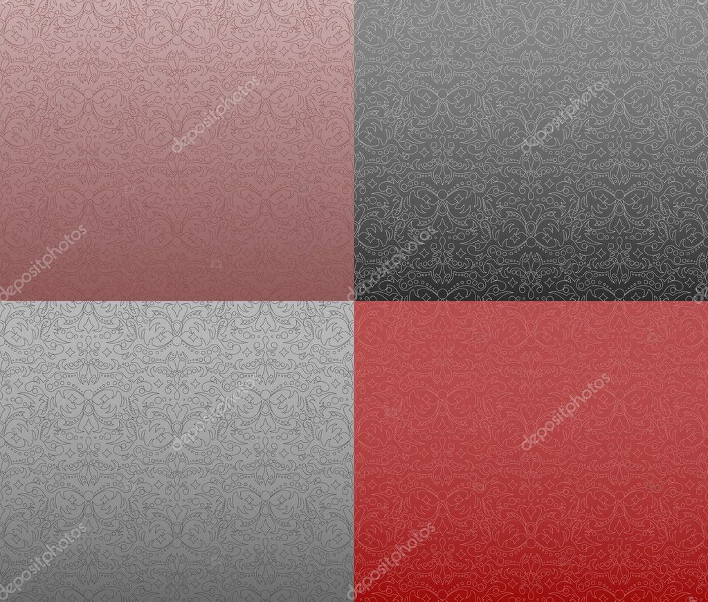 Ornamental pattern in four colors  Stock Vector #2830122