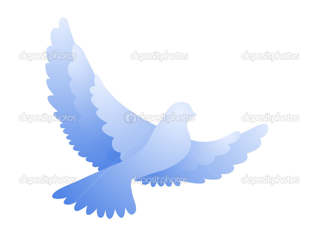Symbolic illustration of a flying dove  Stock Vector #2831699