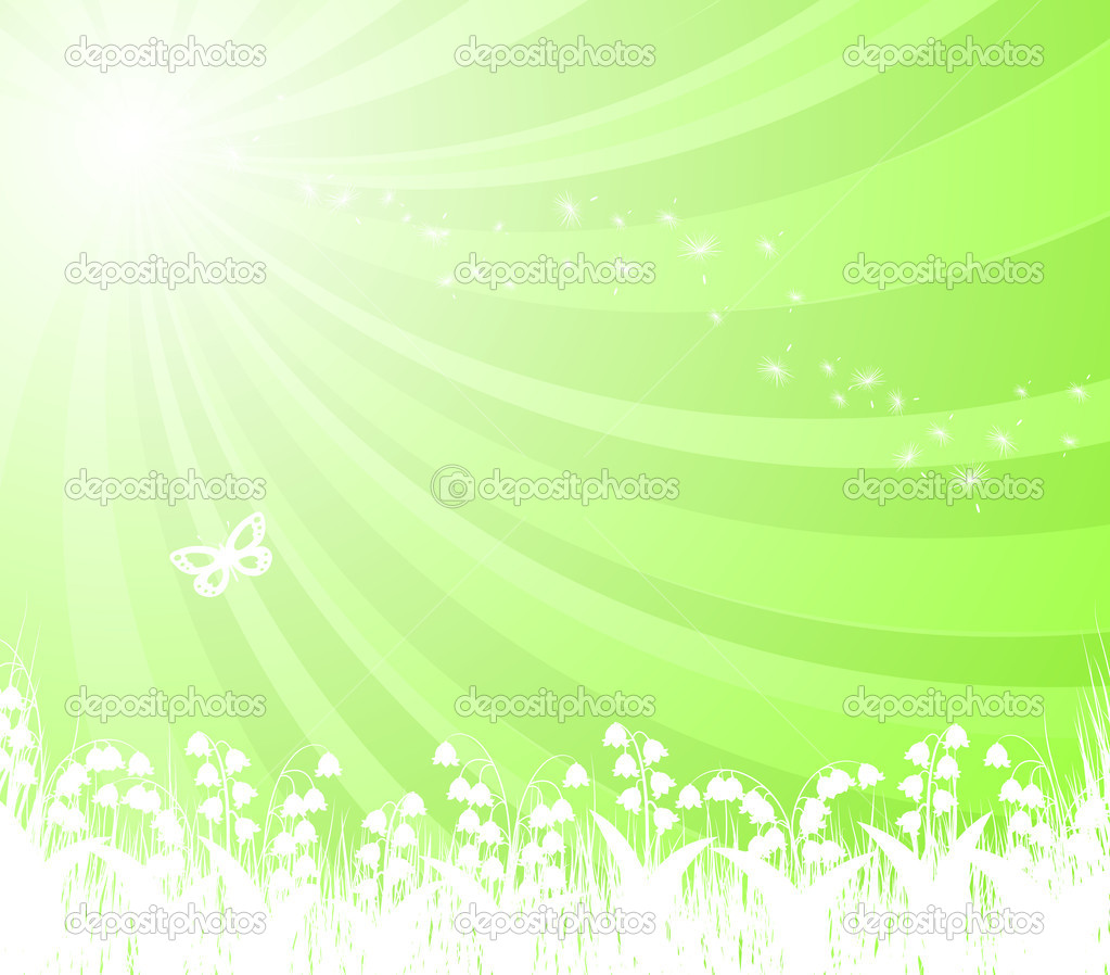 Lilies of the valley on the sun — Stock Vector #2890192