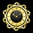 Vintage golden clock — Stock Vector #3657364