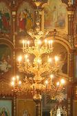 Lampadario chiesa — Foto Stock