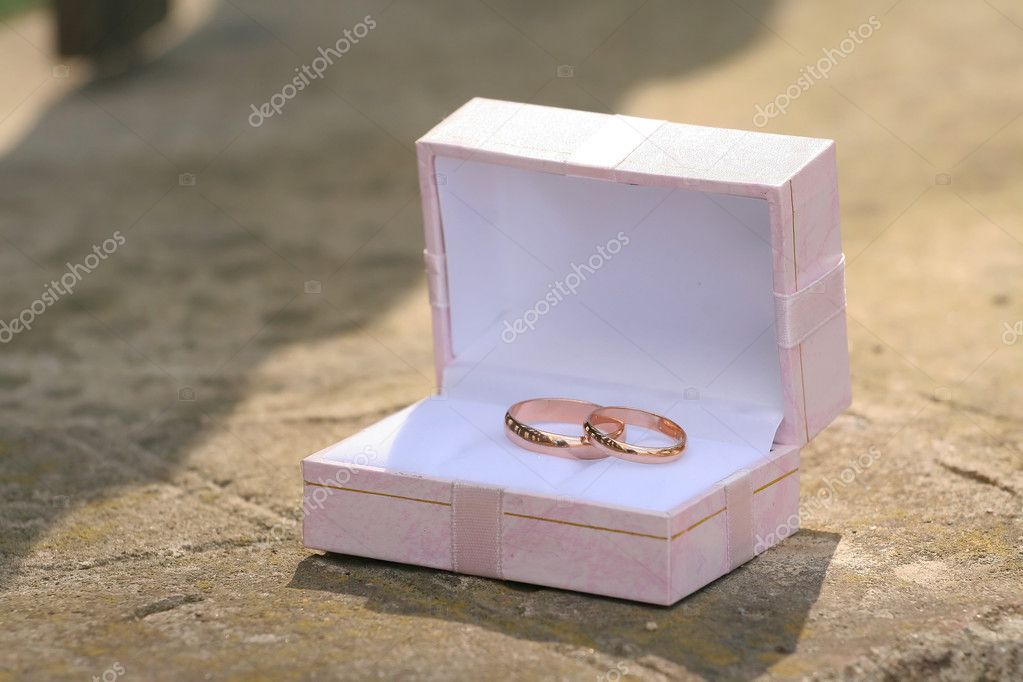 Wedding a ring a box — Stock Photo #2961542